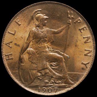 1907 Edward VII Halfpenny Reverse