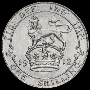 1912 George V silver Shilling Reverse