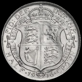 1916 George V Silver Half Crown Reverse