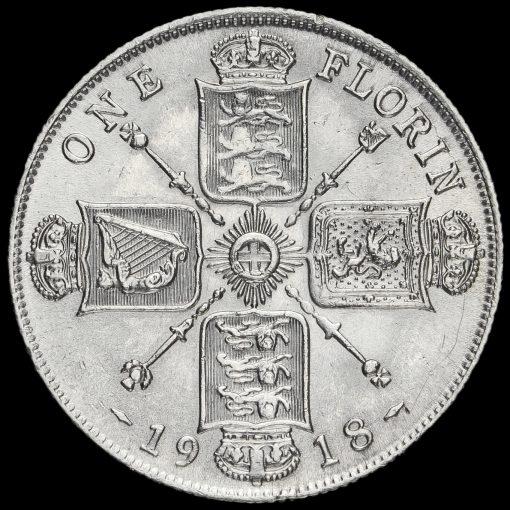 1918 George V Silver Florin Reverse