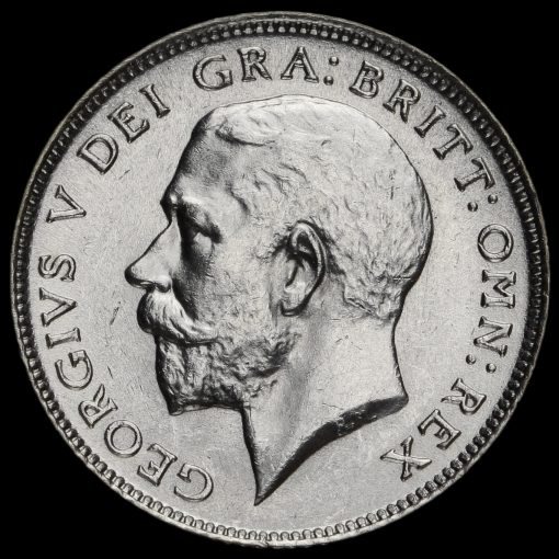 1925 George V Silver Sixpence Obverse