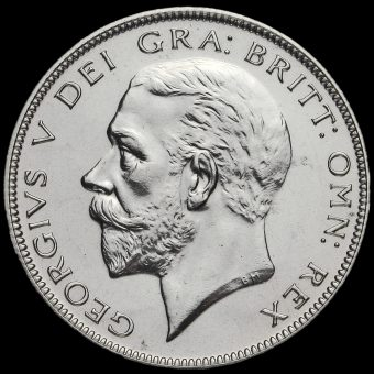 1927 George V Silver Proof Half Crown Obverse