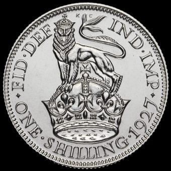1927 George V Proof Silver Shilling Reverse
