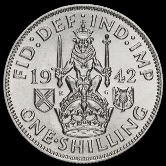 1942 George VI Silver Scottish Shilling Reverse