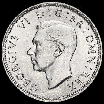 1946 George VI Silver Scottish Shilling Obverse