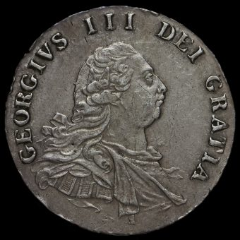 1792 George III Early Milled Silver Maundy Fourpence Obverse