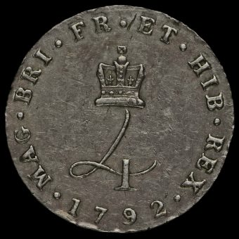1792 George III Early Milled Silver Maundy Fourpence Reverse
