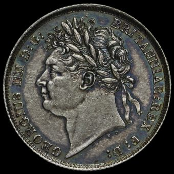 1825 George IV Silver Shilling Obverse