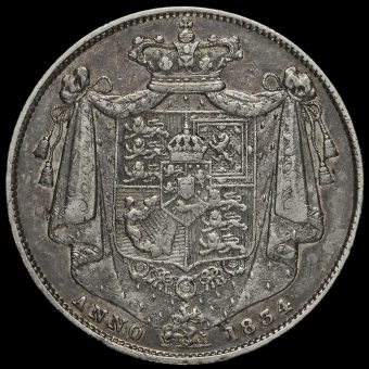 1834 William IV Milled Silver Half Crown Reverse