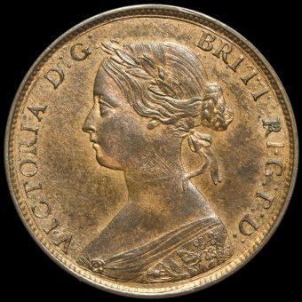 1860 Queen Victoria Bun Head Halfpenny Obverse