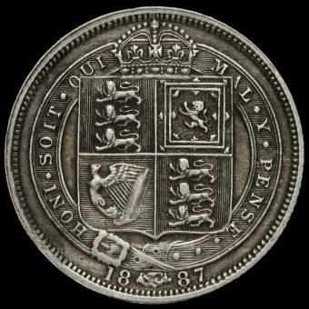 1887 VictoriaJubilee Head Silver Sixpence Reverse