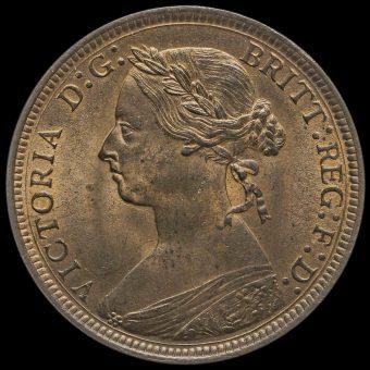 1891 Queen Victoria Bun Head Halfpenny Obverse