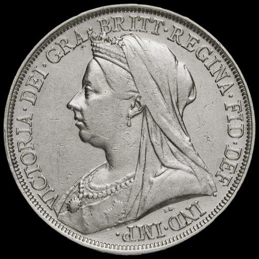 1893 Queen Victoria Veiled Head Silver LVI Crown Obverse