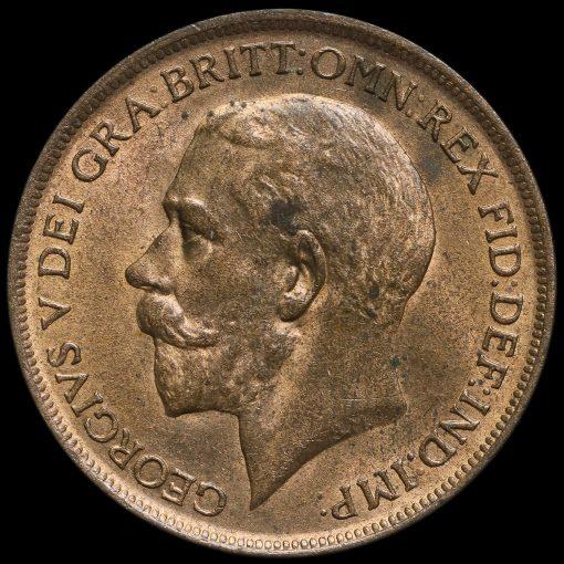 1912 George V Penny Obverse