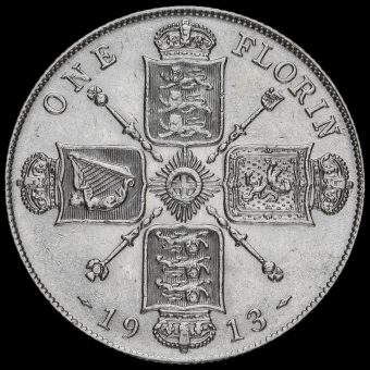 1913 George V Silver Florin Reverse