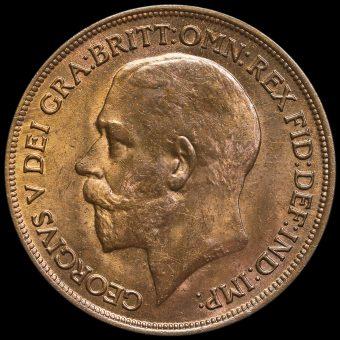 1915 George V Penny Obverse