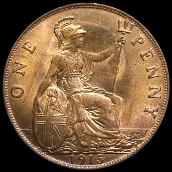 1915 George V Penny Reverse