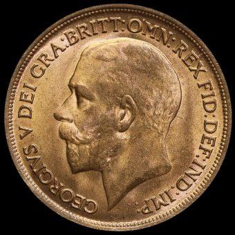 1916 George V Penny Obverse