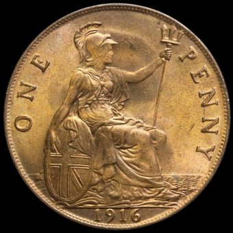 1916 George V Penny Reverse