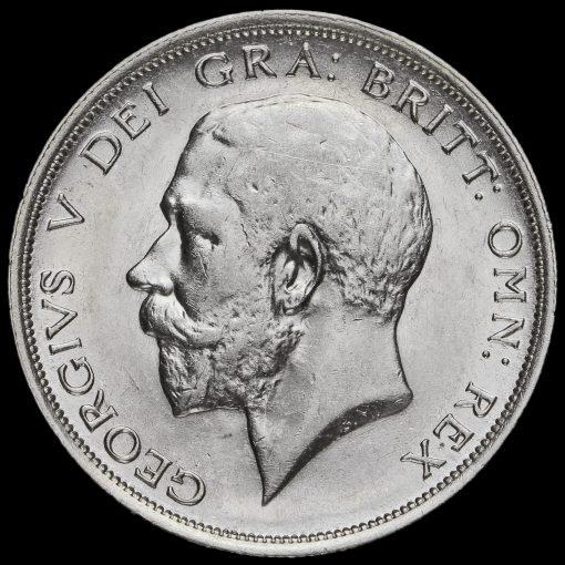 1917 George V Silver Half Crown Obverse
