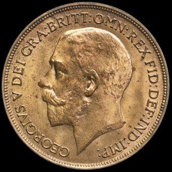 1918 George V Penny Obverse