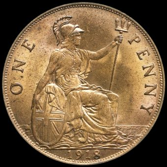 1918 George V Penny Reverse