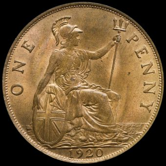 1920 George V Penny Reverse