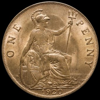 1920 George V Penny Reverse