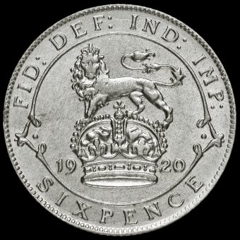 1920 George V Silver Sixpence Reverse