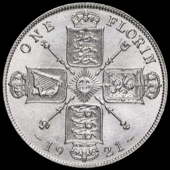 1921 George V Silver Florin Reverse