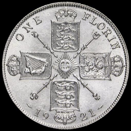 1921 George V Silver Florin Reverse