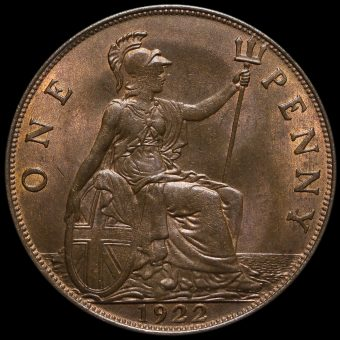 1922 George V Penny Reverse