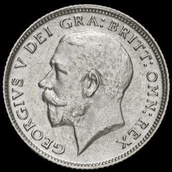 1923 George V Silver Sixpence Obverse
