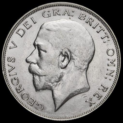 1925 George V Silver Half Crown Obverse