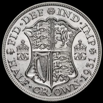 1931 George V Silver Half Crown Reverse