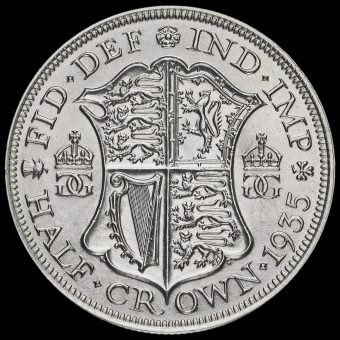 1935 George V Silver Half Crown Reverse