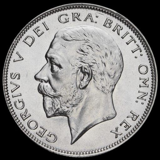 1935 George V Silver Half Crown Obverse