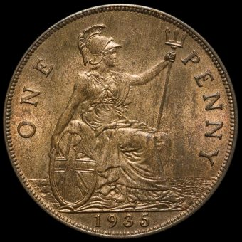 1935 George V Penny Reverse