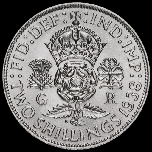 1938 George VI Silver Two Shilling Coin / Florin Reverse