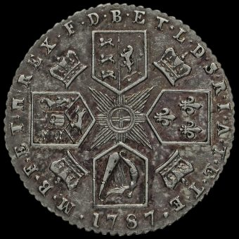1787 George III Early Milled Silver Sixpence Reverse