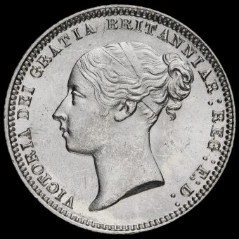 1874 Queen Victoria Young Head Silver Sixpence Obverse