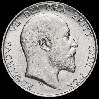 1908 Edward VII Silver Shilling Obverse