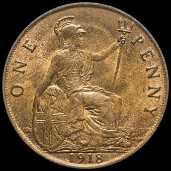 1918 George V Penny Reverse