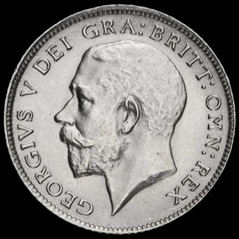 1919 George V Silver Sixpence Obverse