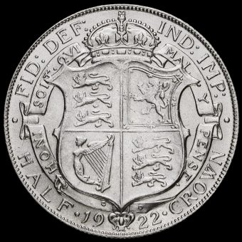 1922 George V Half Crown Reverse