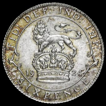 1924 George V Silver Sixpence Reverse