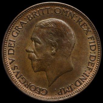 1928 George V Halfpenny Obverse