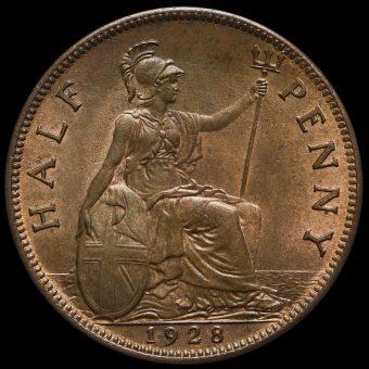 1928 George V Halfpenny Reverse