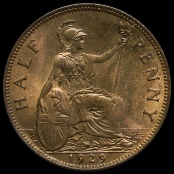 1929 George V Halfpenny Reverse