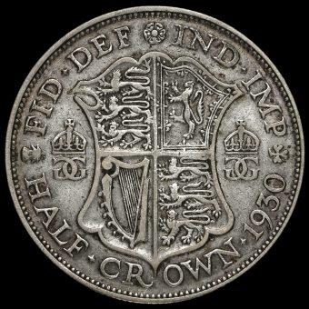 1930 George V Silver Half Crown Reverse